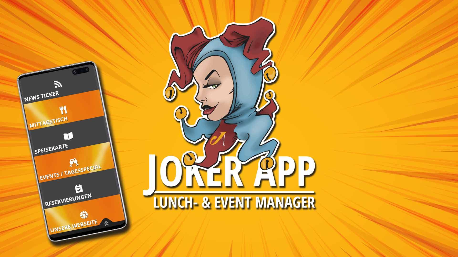 JOKER APP - Der Lunch/Event-Manager